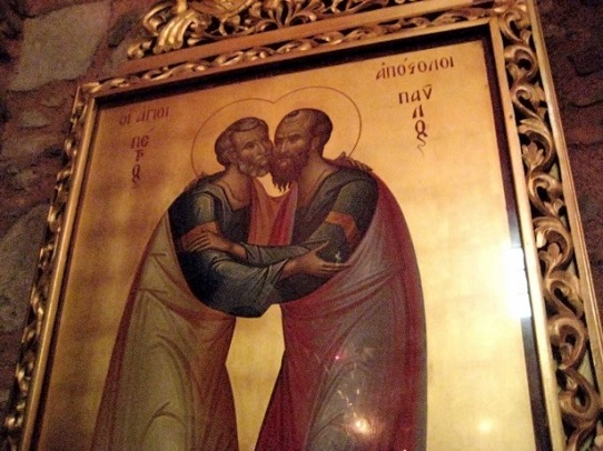 apostles hug in ancient art